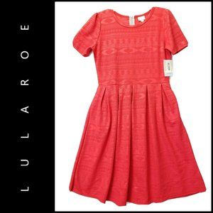 LuLaRoe Women Fit & Flare Dress Size XL Red Nwt